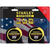 Lowe's has 2-Pack Stanley FATMAX 25-ft Tape Measures. FS or store pickup - $  19.98