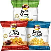 Lay's Kettle Cooked Potato Chips Variety Pack, 40 Count $8.73 or less + free ship