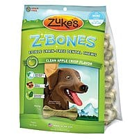 Zuke's Z-Bones Clean Apple Crisp Dental Dog Treats mini size 18 count $  7.78 (59% off) at Chewy and Amazon