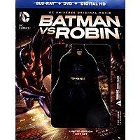 DC Animated Blu-rays: Batman vs. Robin w/ Figure (Blu-ray + DVD + Digital HD) $10 & More + Free S&H