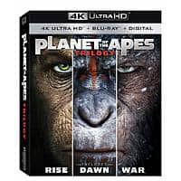 Planet of the Apes Trilogy (4K UHD + Blu-ray + Digital) $16.96 @ Walmart & Amazon