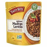 Tasty Bite Indian Entree Madras Lentils 10 Ounce (Pack of 6), Fully Cooked Indian Entrée with Lentils Red Beans & Spices in a Creamy Tomato Sauce $5.99