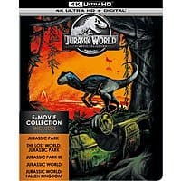 Jurassic World 5-Movie Collection Steelbook (4K Ultra HD + Digital) $35.99 + Free Shipping