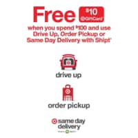 *Live* Target: Free $10 Gift Card When You Spend $100 and Use Drive Up, Order Pickup or Same Day Delivery w/ Shipt *9/22 - 9/28*