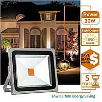 20W LED flood light, Outdoor, Waterproof IP65 (Warm/White) for $  14.99, free shipping with Amazon prime