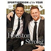 Sports Illustrated - $  21.99/yr, National Geographic - $  19.00/yr, Real Simple - $  11.95/yr, InStyle - $  5.00/yr, Entertainment Weekly - $  21.95/yr