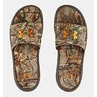 Men's Under Armour Camo Slide Sandals $  19 Shipped