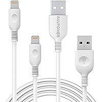 iPhone Cables RAVPower 2-Pack 3ft 6ft Apple MFi Certified Lightning Cable for iPhone, iPad with Military Grade Fiber, Lifetime Warranty $  14 at amazon
