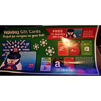 Holiday Gas Station Buy select (Amazon, itunes, Home Depot Google Play , Xbox) 50$   Gift cards get $  5 Holiday Card