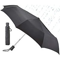 Lewis N. Clark Windproof and Water Repellent Travel Umbrella, Black $7.99