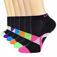LITERRA Womens 6 Pack Athletic No Show Socks Performance Low Cut - Amazon $6.66AC