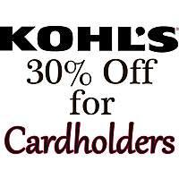 Kohl's Cardholders Coupon for Additional Savings  30% Off + Free Shipping