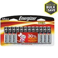 Energizer AA and AAA batteries Alkaline 24 pack or Lithium 12 pack $10.04 + Tax or Less at Lowes