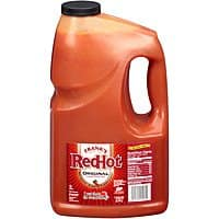 1 gallon Frank's original hot sauce $9.13 from Amazon or Walmart