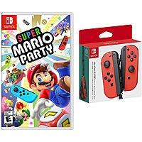 Nintendo Switch Super Mario Party and Neon Joy Con Controllers Bundle $107.95 + FS