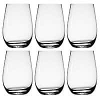 6-Pack of Stolzle Red or White Wine Crystal Stemless Glass Sets $17 & More + Free S&H