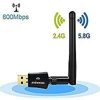 ANEWKODI 600Mbps Dual Band (2.4G/150Mbps+5G/433Mbps) Wireless USB Wifi Adapter w/ possible FS $  8.89 @ Amazon