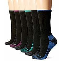 Dickies Women's Dritech Advanced Moisture Wicking Crew Sock, Black (12 Pack) $13.99