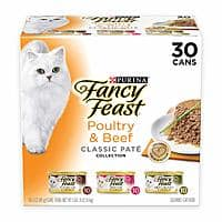 Purina Fancy Feast Classic Collection Adult Wet Cat Food Variety Pack - (30) 3 oz. Cans $12.46