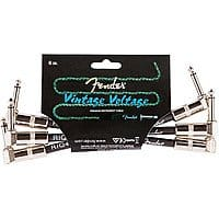 """3-Pack 6"""" Fender Angle-Angle Instrument Patch Cable 