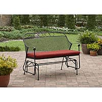 Better Homes and Gardens - Clayton Court Outdoor Glider in Red $85.73 + Free Shipping