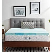 """LUCID Comfort Collection 3"""" Gel Swirl Memory Foam Mattress Topper from $40 at Home Depot +FS on $45+"""