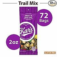 72-Count 2oz. Bags of Kar's Nuts Sweet 'n Salty Mix $18