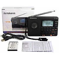 Retekess V115 Portable AM FM Radio with Shortwave Radio MP3 Player $11