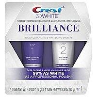 Crest 3D White Brilliance Daily Toothpaste & Whitening Gel System $6.75 & More + Free S&H