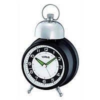 Lorus Quartz Quiet Sweep Bell Alarm Clock $5 + Free Shipping