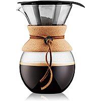 34oz Bodum Pour Over Coffee Maker w/ Permanent Filter (Cork Band) $16