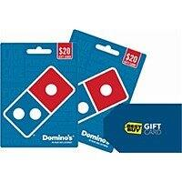 Free $  5 Best Buy Gift Card with $  40 (2 x $  20) Purchase of Domino's Pizza Gift Cards