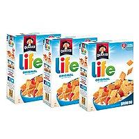 3-Pack of 13oz. Quaker Life Cereal (Original Flavor) $4.87 w/ S&S + Free S&H