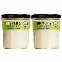 2-Count 7.2 oz. Mrs. Meyer's Clean Day Scented Soy Candle, Large Glass, (Lemon Verbena, Basil,Geranium) $8.62 5% s&s