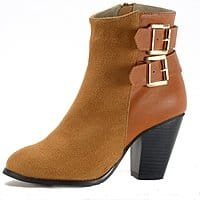 """Alpine Swiss Nendaz Women's Ankle Boots Tailored 3"""" Block High Heel Ankle Bootie $14.99 +Free Shipping"""