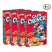 4-Count of 14-Oz Cap'N Crunch Breakfast Cereal $5.40 w/ S&S + Free S&H