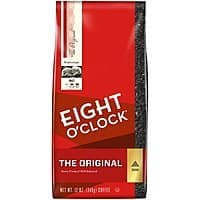 6-Count 12oz. Eight O'Clock Ground Coffee (The Original) $23.95 or $20.95 15% & Many MORE AC w/s&s