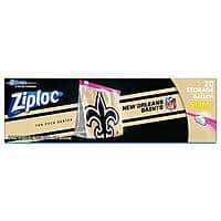 20-Ct Ziploc Brand NFL Gallon Size Slider Bags (various teams) from $3.50 + Free Shipping