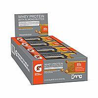 12-Pack Gatorade Whey Protein With Almond Butter Bars (Salted Caramel) $7.97 5% or $6.91 | 12 Fuel Choc. Chip Bars $6.49 5% AC w/ S&S + Free S&H