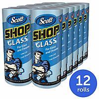1-Case (12 Rolls) Scott Shop Towels, Glass and Chrome $10.80 - Amazon