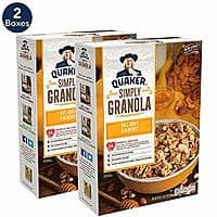 Prime Day: 2-Boxes Quaker Simply Granola Oats, Honey & Almonds, Breakfast Cereal $4.91 5%