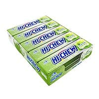10-Pack 1.76oz Hi-Chew Sensationally Chewy Japanese Fruit Candy (Green Apple) $5