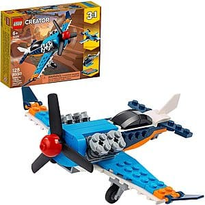 LEGO Building Sets: 128-Piece Creator 3 in 1 Propeller Plane Flying Toy $7.40 at Amazon