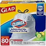 Prime Members: 80-Count 13-Gallon Glad Tall Antimicrobial Protected Drawstring Kitchen Trash Bags $  9.09 or less w/ S&S + Free S/H