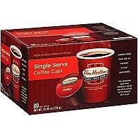 80-Count Tim Horton's Single Serve Coffee K-Cups (Premium Roast) $27.99 or less w/ S&S + Free S&H(& 2-lb Whole Bean $14.19)