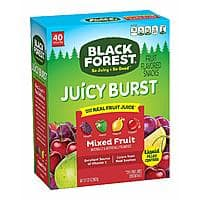 40-Ct 0.8oz Black Forest Medley Juicy Center Fruit Snacks (Mixed Fruit Flavors) $4.54 or less w/ S&S + Free S/H