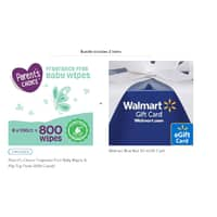 parent's choice fragrance free baby wipes 2 boxes of 800 each + 10$ Walmart eGift card 26$ @ Walmart