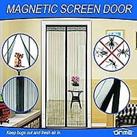 $  9 AC @Amazon ONME Magnetic Screen Door, Full Frame Velcro, Hands Free Bug-Proof Mesh curtain, Black