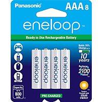 eneloop AAA 8-Pack Batteries (Panasonic BK-4MCCA8BA) $13.70 (S/S $13.01)