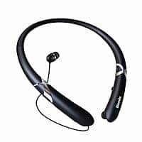 Bluetooth Headphones, Sweatproof Sports Neckband with Mic & Retractable Earbuds - $  15.39